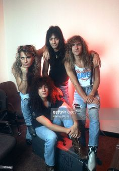 Hard-rock group 'White Lion' poses for a portrait in July 1987 in New York City, New York. Members include: Vito Bratta, James Lomenzo, Greg D'Angelo, Mike Tramp.