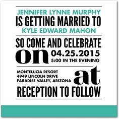 Daring Details - Signature White Wedding Invitations - Eleanor Grosch - Bay - Green : Front