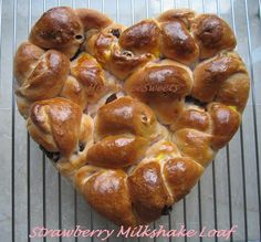 Strawberry Milkshake Bread Loaf with Dried Cranberries Recipe