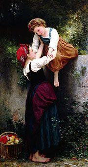 Petite Maraudeuses by William Adolphe Bouguereau 1872