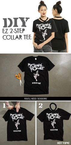 IT'S SOOOO EZ! //DIY  My Chemical Romance Black Parade T-Shirt