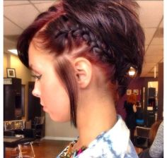 Sided French Braid for Short Hair
