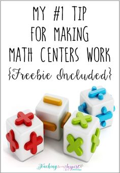 Math centers can be game changers for a teacher's math instruction and students' learning. Click to read aboiut my #1 tip for making math centers work for me and grab a freebie!