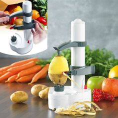Stainless Steel Fruit Apple Vegetables peeler with Automatic Slicer #Unbranded