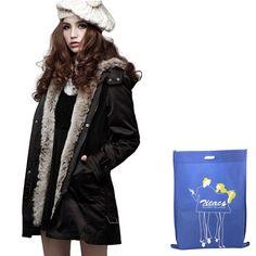 Amazon.com: Misun Women's Luxury Winter Padded Jacket Parka Long ...