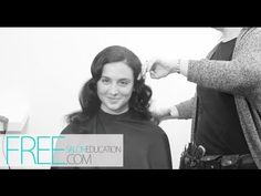 How to Finger Wave Long Hair | Long Hairstyles | Dry Wave Set Using Clip-less Curling Iron - YouTube