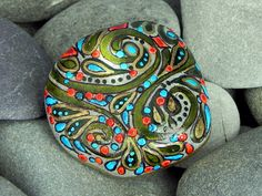 A Happy Earth / Painted Rock / Sandi Pike by LoveFromCapeCod, $29.00