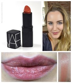 Daily Swatch: NARS via pinterest.com/radiancereport/  -- (click image for color/product details) #coral #nude #lipstick