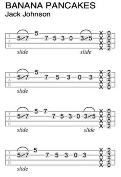 Uke Tabs- Banana Pancakes by Jack Johnson