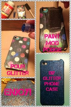 ❤ God, Glitter, and Grace ❤ : DIY Glitter Phone Case