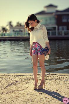 lace yoke chiffon dress