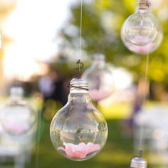 Hanging Decorations what an awesome way to use old light bulbs:)