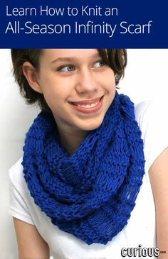 In this lesson for beginner& Maryna shows you how to cast on for a chunky urban cowl scarf, using the English and Continental knitting styles. Knit Or Crochet, Crochet Scarves, Crochet Crafts, Yarn Crafts, Crochet Projects, Knitting Projects, Learn How To Knit, How To Purl Knit, Learn To Crochet