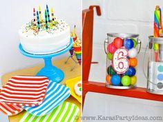 Art Colorful Rainbow Themed birthday party