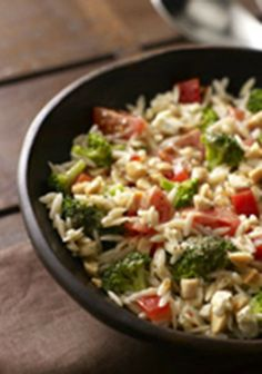 Orzo and Broccoli Salad — Prepare your taste buds for flavor overload: This Orzo and Broccoli Salad has Italian dressing, feta, almonds and more. Think you can handle it all?