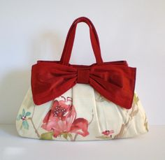 Hand made hand-bag: Large How To Make Purses, Bow Bag, Handmade Bags, Large Bags, Bag Making, Leather Bag, Sewing Patterns, Sewing Ideas, Purses And Bags