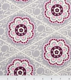 Keepsake Calico Fabric Retro Flower Medallion. Curtains for Coras room?