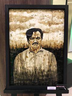 Pablo Escobar coffee painting