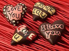 4-Inch Heart, $27, 3.25 oz Valentine Chocolate, Chocolate Hearts, Chocolate Shapes, Artisan Chocolate, Valentines Day, Chocolates, Valentine's Day Diy, Chocolate, Brown