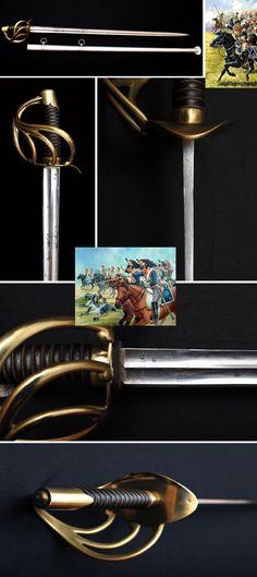 French An XI Cuirassier Heavy Cavalry Sword Grand Armée, ca 1802.