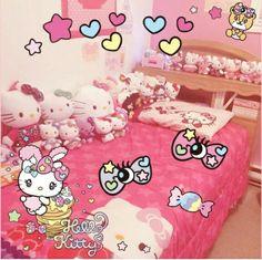 こんなにかわいいお部屋を持っていたら、お友達に自慢したくなっちゃいますね♡  ピンクとキティちゃんいっぱいでかわいい♡   I would always wanna have my friends over to my place if I had a cute room like this♡  So many Hello Kitty and girly things♡   Photo taken by Aride94 on Kawaii★Cam    Join Kawaii★Cam now :)   For iOS:   https://itunes.apple.com/jp/app/kawaii-xie-zhen-jia-gonghakawaiikamu*./id529446620?mt=8    For Android :   https://play.google.com/store/apps/details?id=jp.co.aitia.whatifcamera    Follow me on Twitter :)…