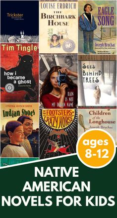 Best Native American books for kids ages 8-13. These #Ownvoices chapter books and middle grade novels tell historical and contemporary stories about American Indians.