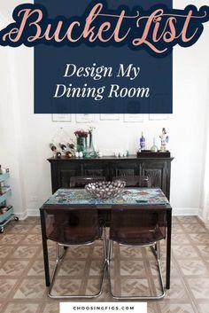 Bucket List Idea: Design My Dining Room. | My Teal And Aqua Boho Dining