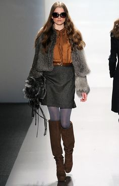 '70s styling at Elie Tahari A/W 2010    ---   http://www.fashionising.com/trends/b--fall-2011-fashion-trends-autumn-winter-2011-trends-5427.html