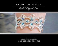 Echo of Deco pdf beading tutorial by UnbridledDesign on Etsy