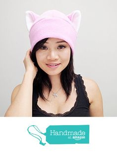 Pink Cat Ear Hat Toque Beanie Feline Kitty Kitten Fleece Anime Manga Ski Snowboarding Convention Goth Punk Rave clubbing Costume Cosplay Halloween cat Christmas Gift from QWear https://www.amazon.com/dp/B01LVUU749/ref=hnd_sw_r_pi_dp_V-qBybW0P2MFX #handmadeatamazon