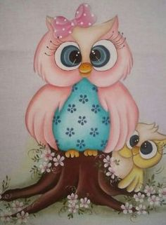 Sovičky (63 pieces) Owl Artwork, Owl Wallpaper, Owl Clip Art, Tole Painting Patterns, Owl Cartoon, Owl Pictures, Baby Owls, Cute Owl, Fabric Painting