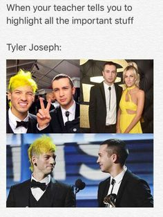 I don't normally like posting this kind of stuff, but that's actually really cute. Like Tyler highlighted the important things in his life.<<<I like what you said fam
