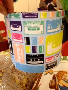 Hey, I found this really awesome Etsy listing at https://www.etsy.com/uk/listing/209841117/mix-tapes-retro-handmade-lampshade