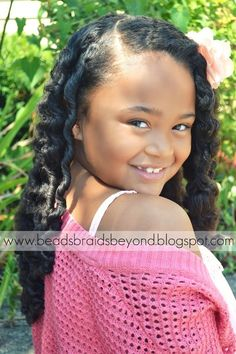 Beads, Braids and Beyond: Bantu Knot-out. She is adorable! Natural Hairstyles For Kids, Natural Hair Tips, Little Girl Hairstyles, Cute Hairstyles, Natural Hair Styles, Tiara Hairstyles, Bantu Knot Out, Bantu Knots, African American Hairstyles