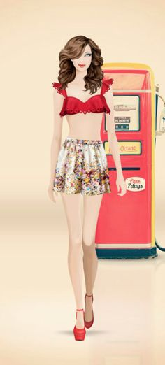 Covet Fashion Game | Limited Time | 1940s Pinup | Voting Results 3.69 | Unworn Items +0.07 | Spring 2014 Items +0.00 | Total ⭐️3.76