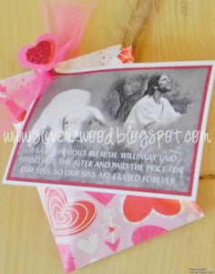 February 2015 Visiting Teaching LDS Monthly Messages.  Comes with a tag, message and recipe.  Also a magic eraser for that is how we are made perfect through our Savior's atonement.  $4.00 each order now. www.sliverzwood.blogspot.com.