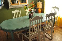 Painted Dining Room Table Ideas | Sample Ideas for Custom Painted Dining by OutsideTheBoxSpokane