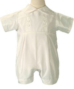 b5b7e43af Boys Christening Outfits Fine Silk Romper Simple Baptism Shortall Set Boy  Christening Outfit, Christening Gowns