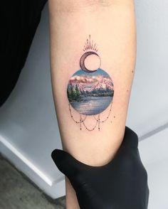 Circular nature tattood