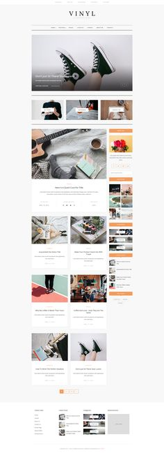 Vinyl is a clean and minimal WordPress blog theme. Vinyl has a minimalistic layout that focuses on simplicity and readability.  Easy installation allows you to start post blogs immediately after the activation. The theme-supported Customizer allows you to customize and change the design of your blog.  Vinyl is the perfect choice for your personal blog, corporate blog, marketing blog, authority blog or any type of creative blog. Web Themes, Website Themes, Corporate Blog, Blog Layout, Lifestyle Blog, Wordpress, Minimal, Change, Templates
