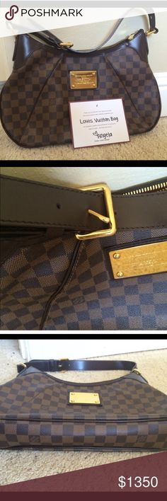 LOUIS VUITTON THAMES GM 100% Authentic.. Purchased here. Authenticated by Posh..changed my mind... I never used it myself. Like new bag with very little sign of wear...middle part of the buckle is bent to one side.. Please see picture.. Very easy fix. BUNDLE DISCOUNT ON THIS. Louis Vuitton Bags
