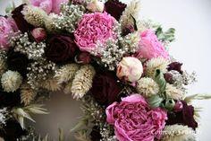 Krans met gedroogde pioenen / wreath with dried piony
