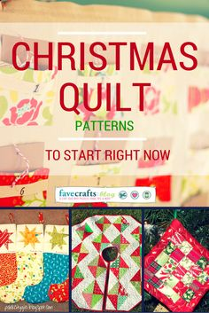 Christmas Quilt Patterns - love these!