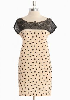 Lace and polka dot dress