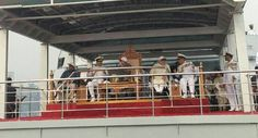 President Pranab Mukherjee on Saturday reviewed the Naval fleet off Visakhapatnam in Andhra Pradesh. Prime Minister Narendra Modi was also present at the event.
