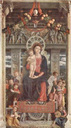 Altarpieceof SanZeno inVerona, central panelMadonnaand Angels - Andrea Mantegna