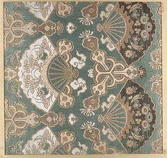 Piece  Date: 18th–19th century Culture: Japan Medium: Silk Dimensions: 11 1/2 x 11 1/4 in. (29.21 x 28.57 cm)