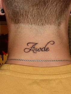 will get my husbands name tatted on my neck!!