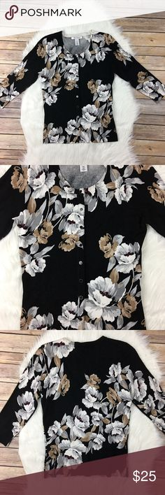 Fall floral cardigan So feminine and gorgeous. rayon & nylon. NWOT White House Black Market Sweaters Cardigans