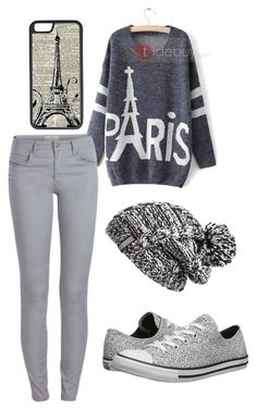 """""""Paris"""" by branki ❤ liked on Polyvore featuring Pieces, CellPowerCases, Converse, Zella, women's clothing, women, female, woman, misses and juniors"""